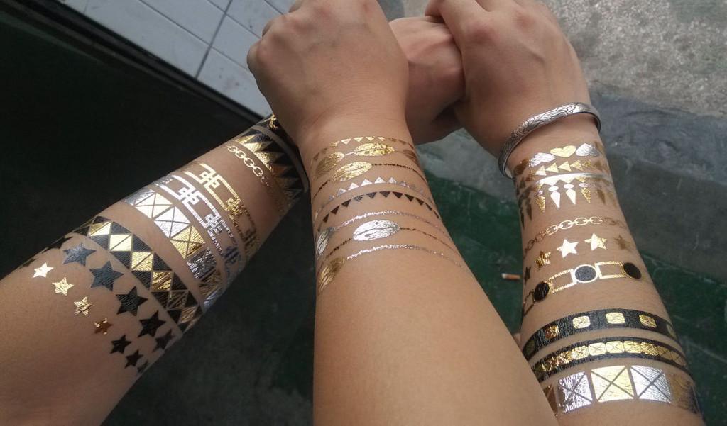 tatouage temporayre couleur or doré
