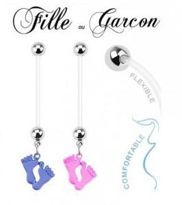 piercing-grossesse-bioflex-motif-pied-couleur-bleu-bebe-garcon