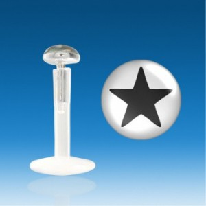 piercing-labret-bioflex-logo-etoile-plat