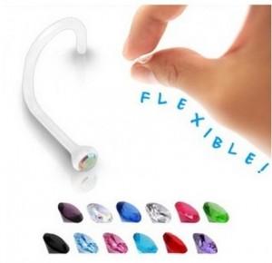 piercing-nez-bioflex-cristal-blanc-2-mm-tige-courbe