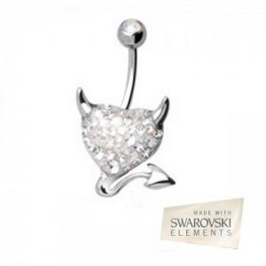 piercing pour nombril cristal de swarovski
