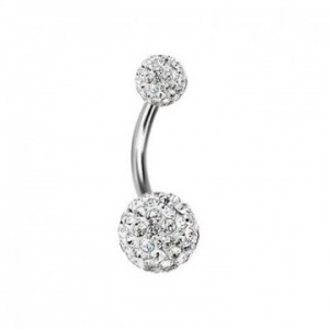 piercing nombril cristal diamant