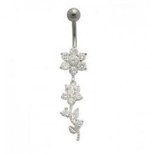 piercing-nombril-pendant-fleur-en-argent-massif-925-barre-acier-chirurgical
