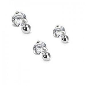 Piercing hélix strass diamant