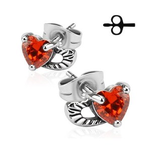 achat de boucles d'oreille femme motif coeur