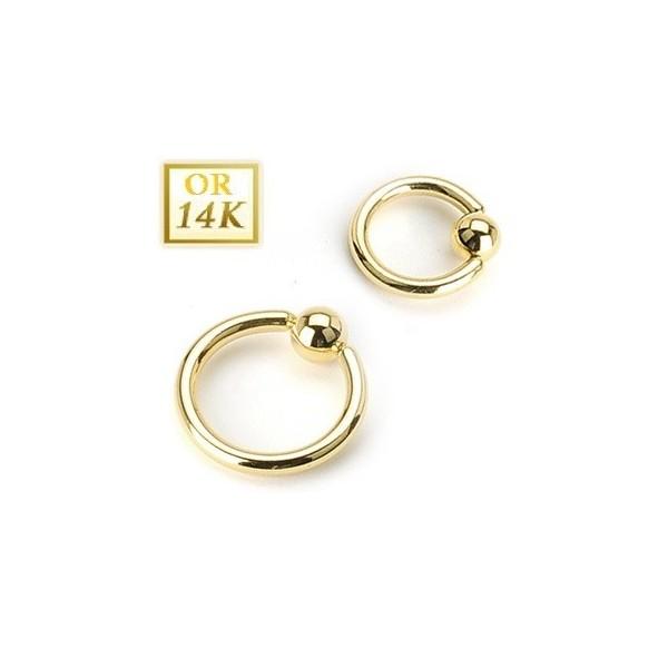 anneau piercing nombril en or