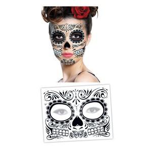 faux tatouage temporaire marque tete de mort mexicaine