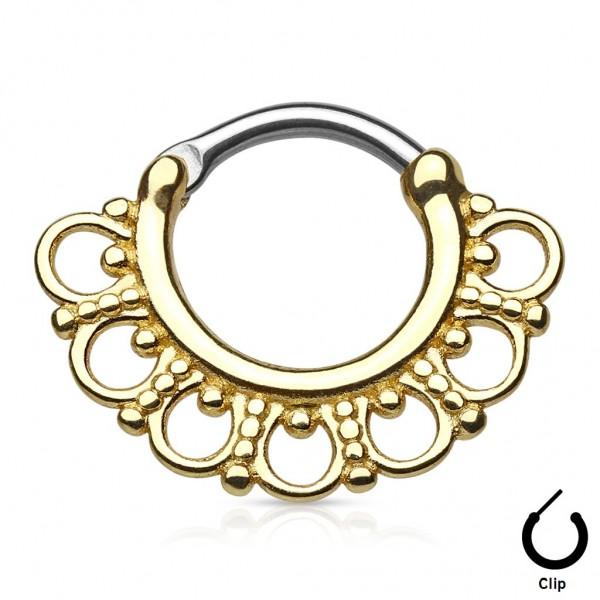 ou acheter un piercing de septum doré