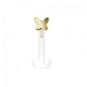 piercing pour la lèvre papillon