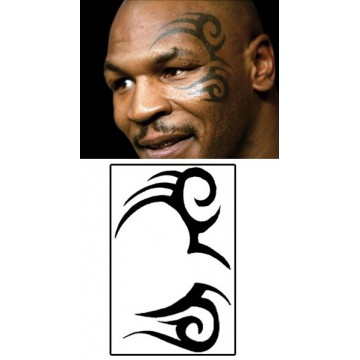 tatouage-temporaire-mike-tyson-visage-tribal