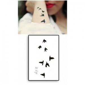 tatouage éphémère oiseau