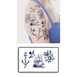 tatouages-temporaires-marine-ancre-bateau