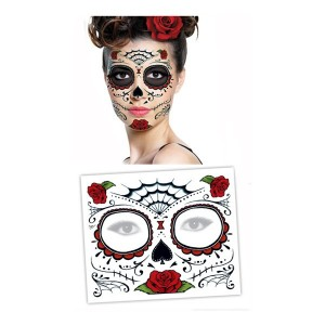 tattoo-masque-visage-dia-de-los-muertos