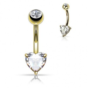 vente piercing nombril or coeur