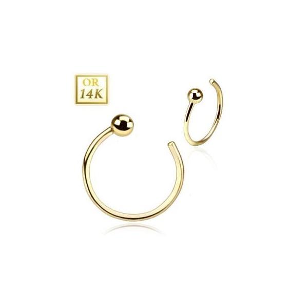 anneau piercing pour le nez en or