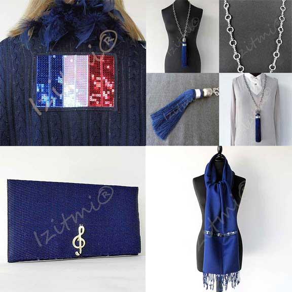 la mode en bleu foncé