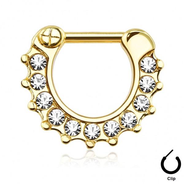 piercing doré pour le piercing septum