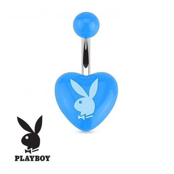 piercing du nombril coeur bleu playboy