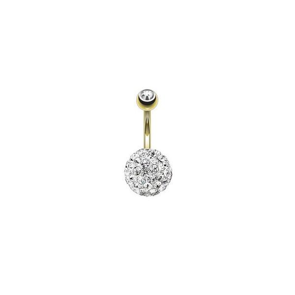 vente piercing au nombril cristal sworovski doré