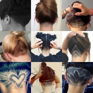 un pele mele de tatouages éphémères de cheveux avec des modèles travaillés pour s'inspirer