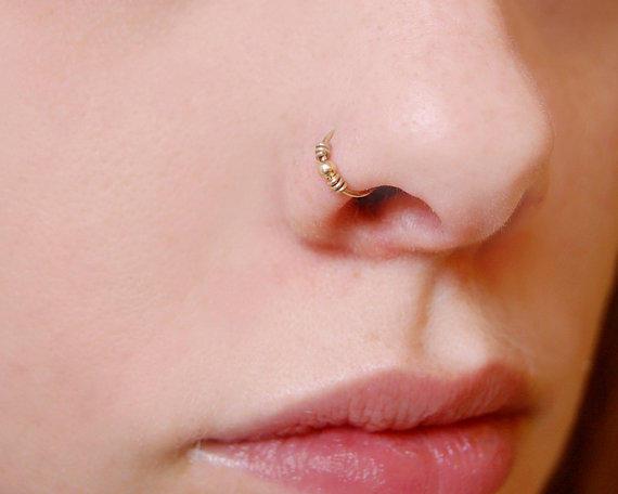 piercing pour le nez en or