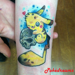 tattoo pokemon pickachu style oldschool