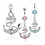 Piercing nombril ancre Marine