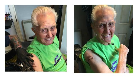 Voici Jack Reynolds, le plus vieil homme à s'être fait tatouer selon le Guinness Book des records