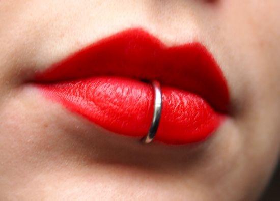 le piercing lèvre