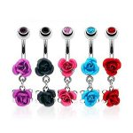 Piercing nombril double rose
