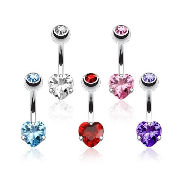 vente piercing de nombril coeur discret