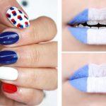 Des maquillages d'inspiration 100% bleus