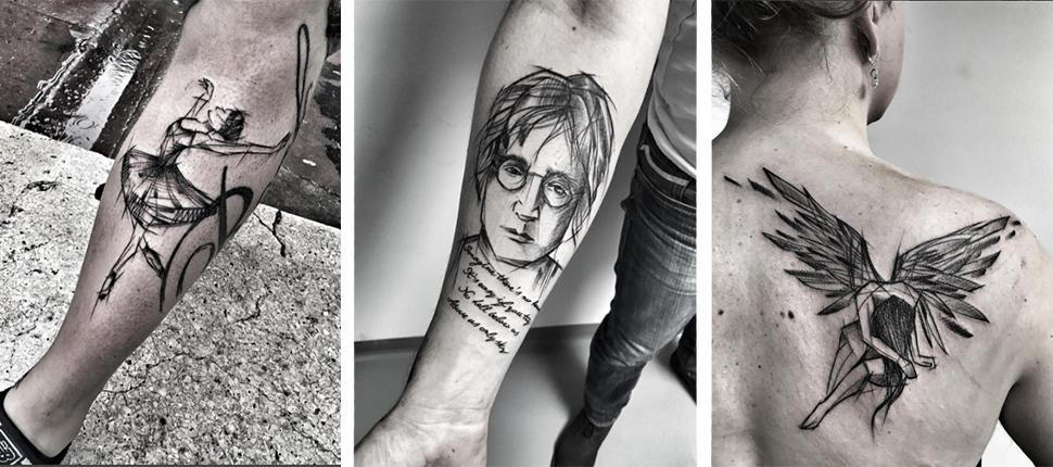 tatouage-croquis-style-esquissse-gribouille-par-la-talentueuse-tatoueuse-inez-janiak